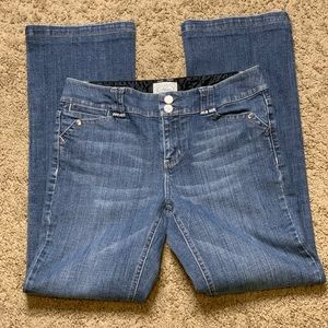 White House Black Market Blanc Dazzle Jeans SZ 6